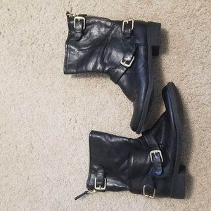 Unisa Black Motorcycle Boots 8.5